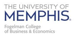 Fogelman College of Business & Economics logo