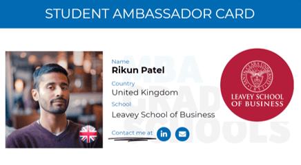 Rikun Patel, Leavey School of Business MBA student