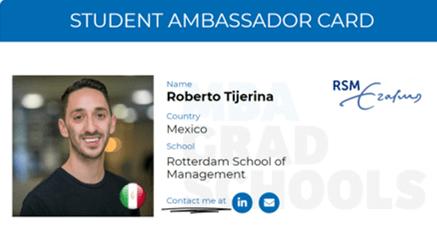 Roberto TIjerina, Rotterdam School of Management MBA student