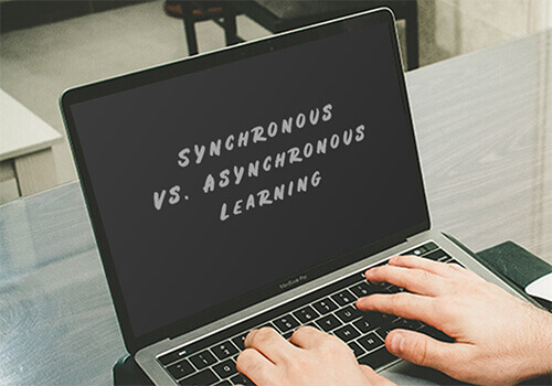 Synchronous vs. asynchronous learning