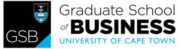 University of Capetown Graduate School of Business logo